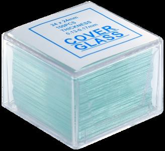 Dekglaasjes BMS helderwit 24 x 24 mm, 0,13 - 0,17 mm, 100 stuks