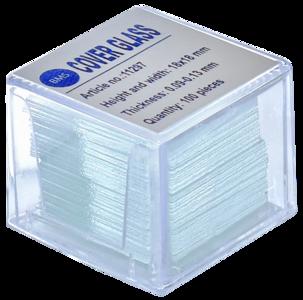 Dekglaasjes BMS helderwit, 18 x 18 mm, 0,09 - 0,13 mm, 100 stuks