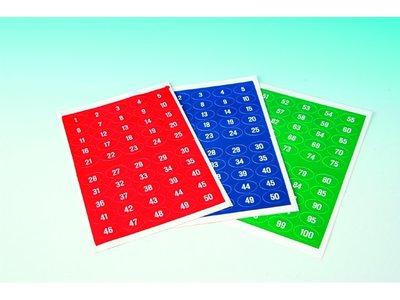 Kaartnummers 51-100 rood